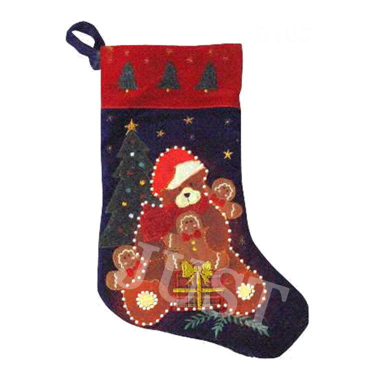 Fiber optic custom christmas stocking with your design JTH